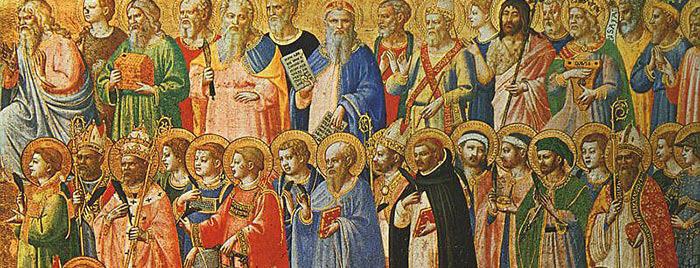 Die Vorläufer Christi mit Heiligen und Märtyrern, Fra Angelico