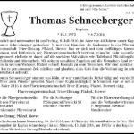 Todesanzeige Schneeberger 2016